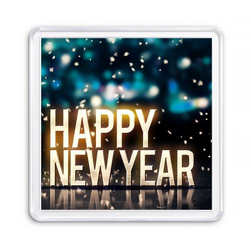 МАГНИТ АКРИЛОВЫЙ / HAPPY NEW YEAR — 1 (арт. 000432)