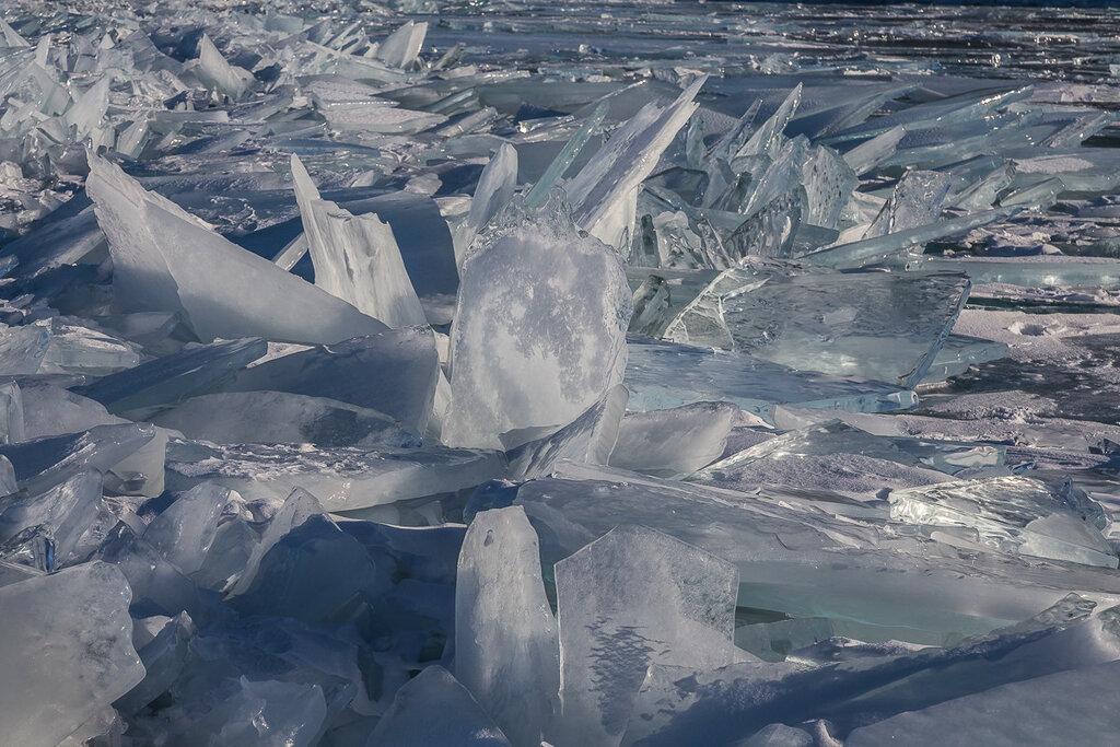 Байкальский лед. Торосы. Цветок