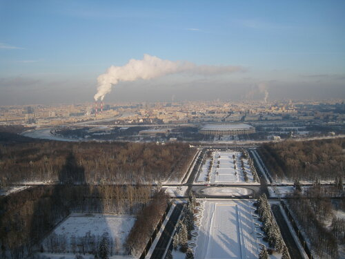 Вид на Москву с 27 этажа, из окна Музея Землеведения МГУ.JPG