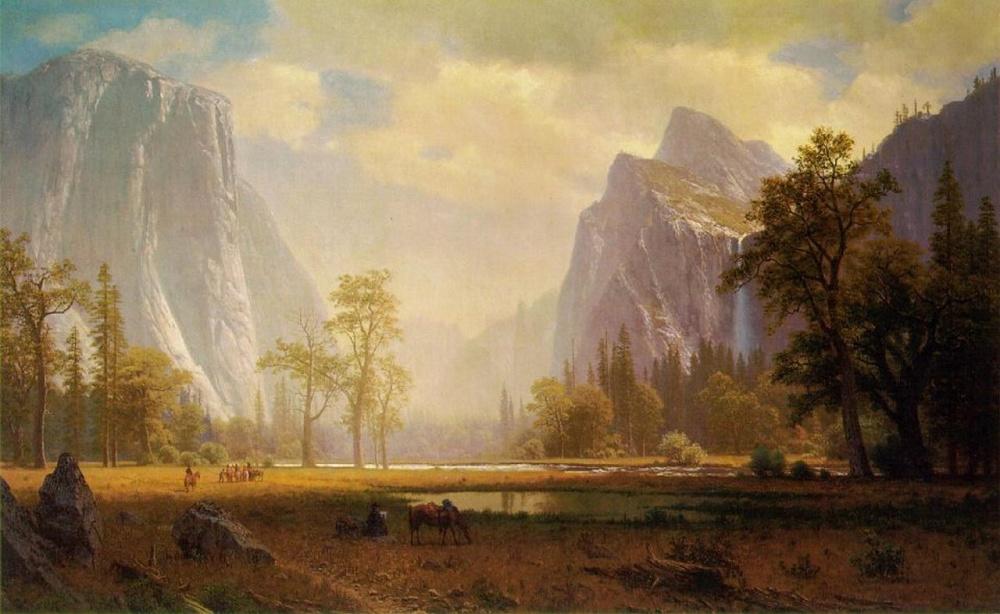 «Вид наЙосемитскую долину», художник Альфред Бирштадт (Albert Bierstadt).