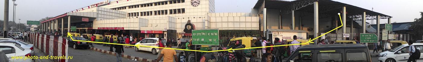 Фото 14. Самостоятельная поездка в Индию. Схема, как на железнодорожном вокзале Нью-Дели найти кассы для иностранцев.