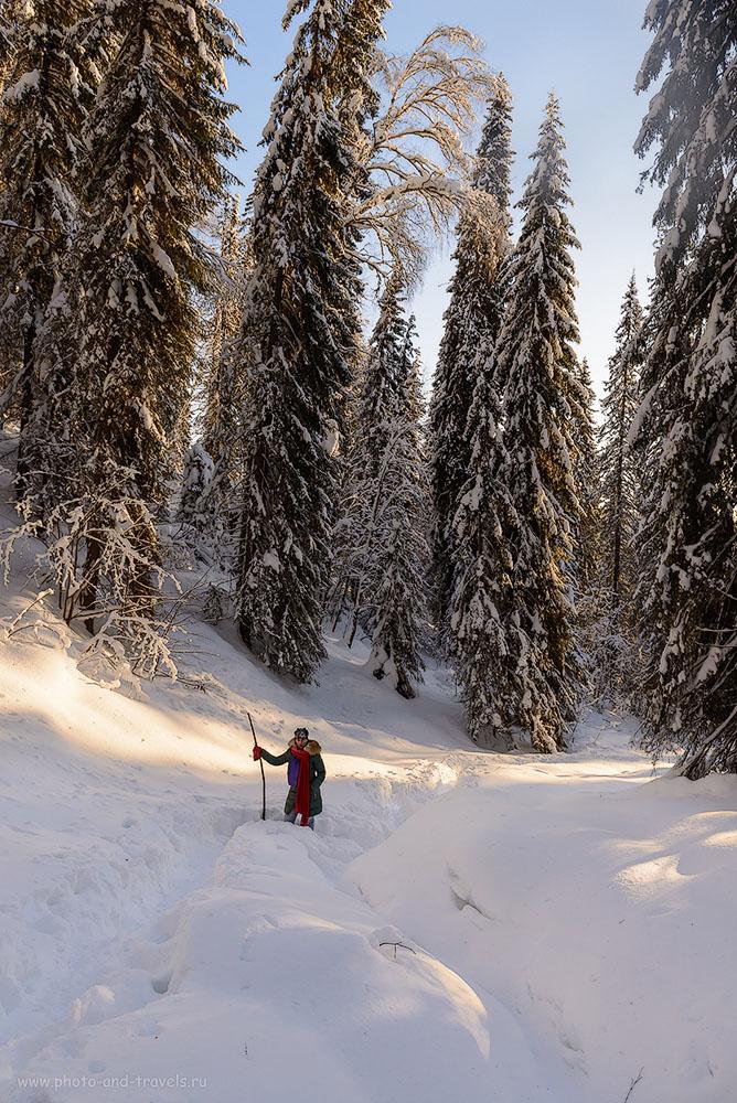 9. Тайга в Пермском крае. Или на Аляске?.. Восхождение на Усьвинские столбы зимой. 1/200, 0.67, 8.0, 500, 24.