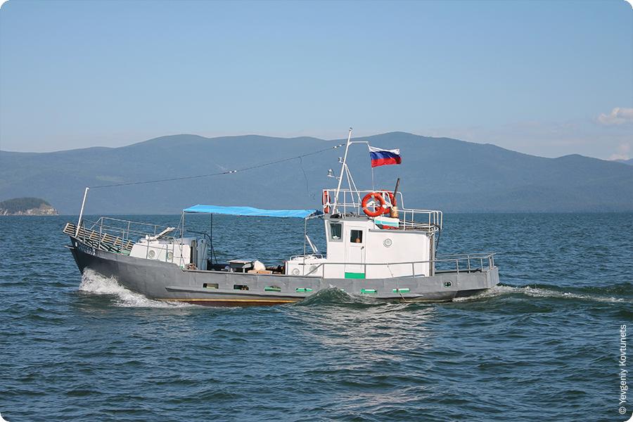 судно Сокол, Чивыркуйский залив, Байкал