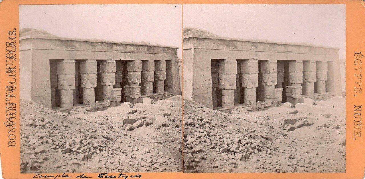 1880-е. Фасад храм Хаткор