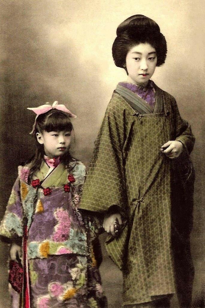 Гейша Теруха с дочерью