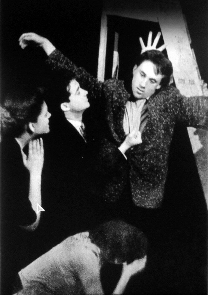 1958. Владимир Высоцкий в спектакле школы-студии МХАТ