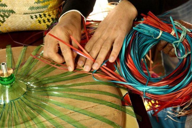 Плетение из верёвок из бутылок