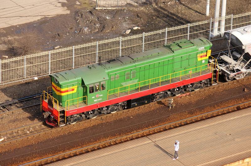 ЧМЭ3-6004 на станции Павшино
