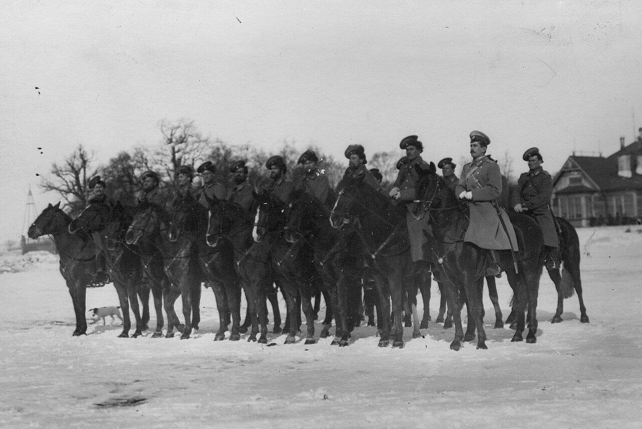 12. Взвод казаков полка несущих пограничную учебную службу на границе. 1907-1908