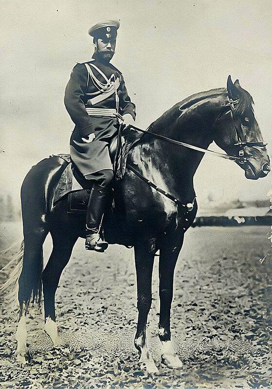 Николай II на лошади,1913-16гг