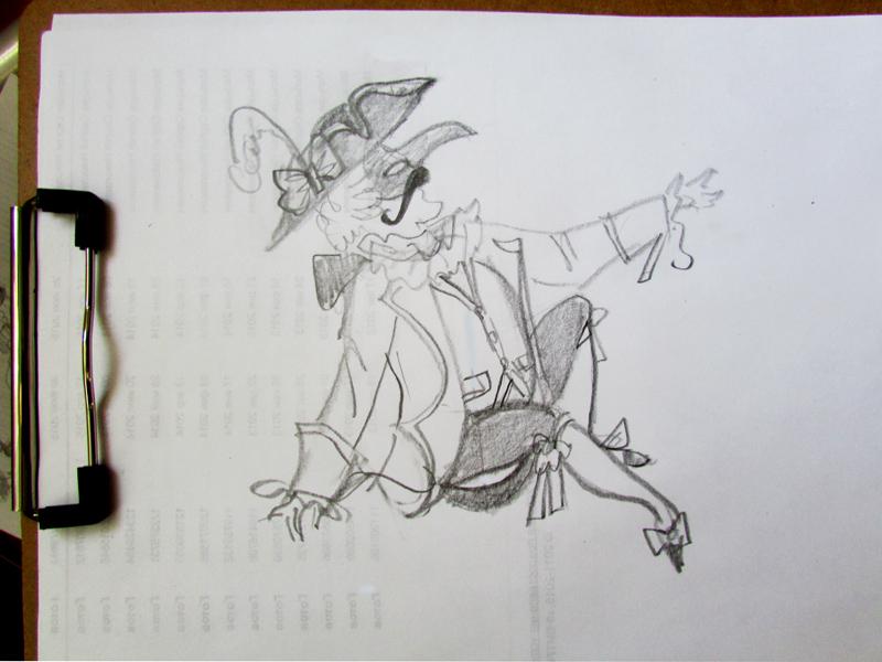 эскиз для крумловского маскарад