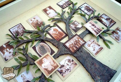 Оригинальное генеалогическое древо семьи своими руками