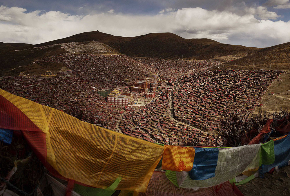 Tibetans Gather For Prayers At Remote Institute