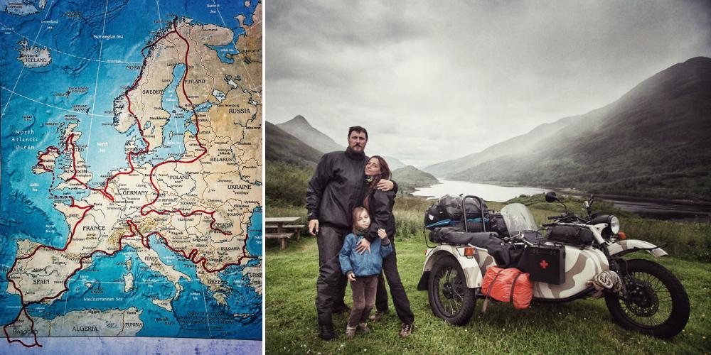 Молодая семья проехала на «Урале»  вокруг Европы