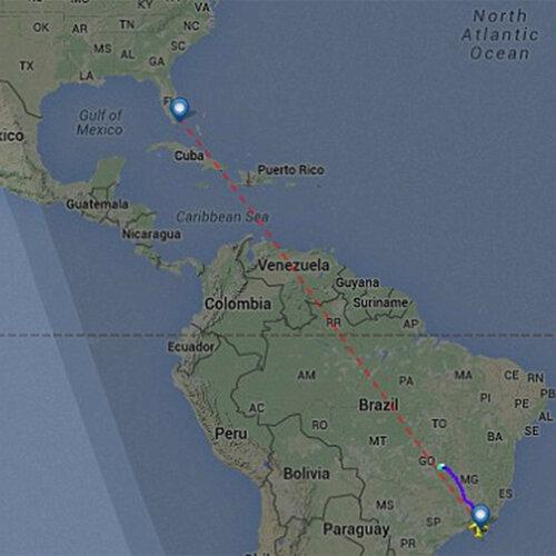 Самолёт American Airlines, совершавший рейс из Рио в Майами, совершил вынужденную посадку