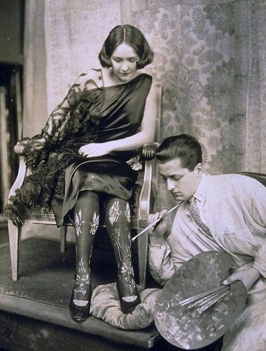 Hand Painted Stockings   c.1922.jpg