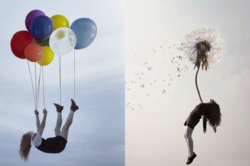 Sleep Elevations: Фотограф Майя Флоре снимает взлетающих во сне людей