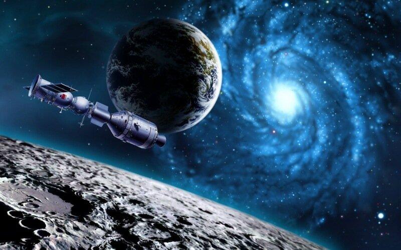 Поместить человека в многоуровневую ракету и отправить его на Луну