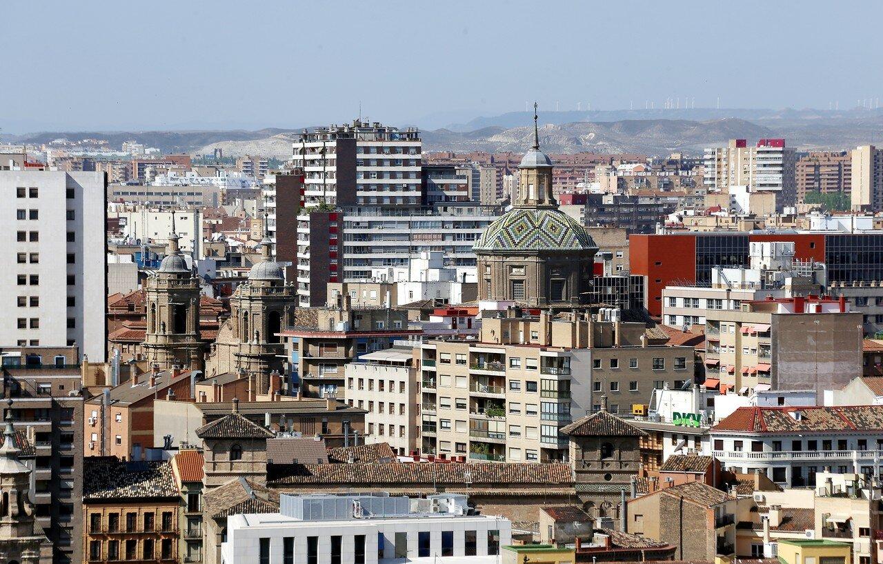 Сарагоса. Вид с башни собора Девы Пилар