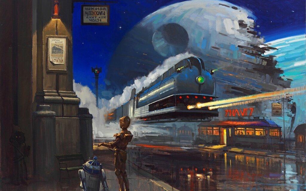 David Tutwiler C3PO-trains-Death-Star-R2D2
