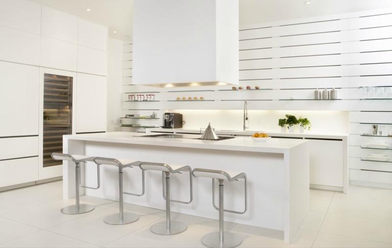 Белый цвет в интерьере кухни, фото 20