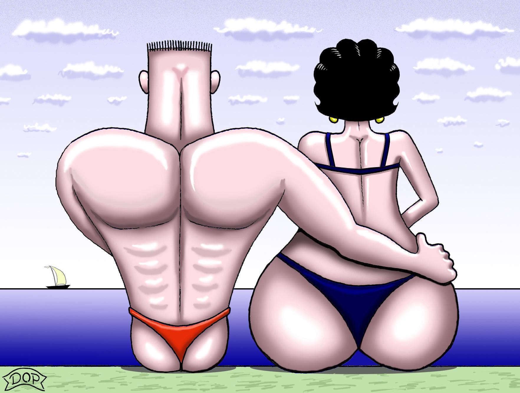 Caricature porn erotic scenes