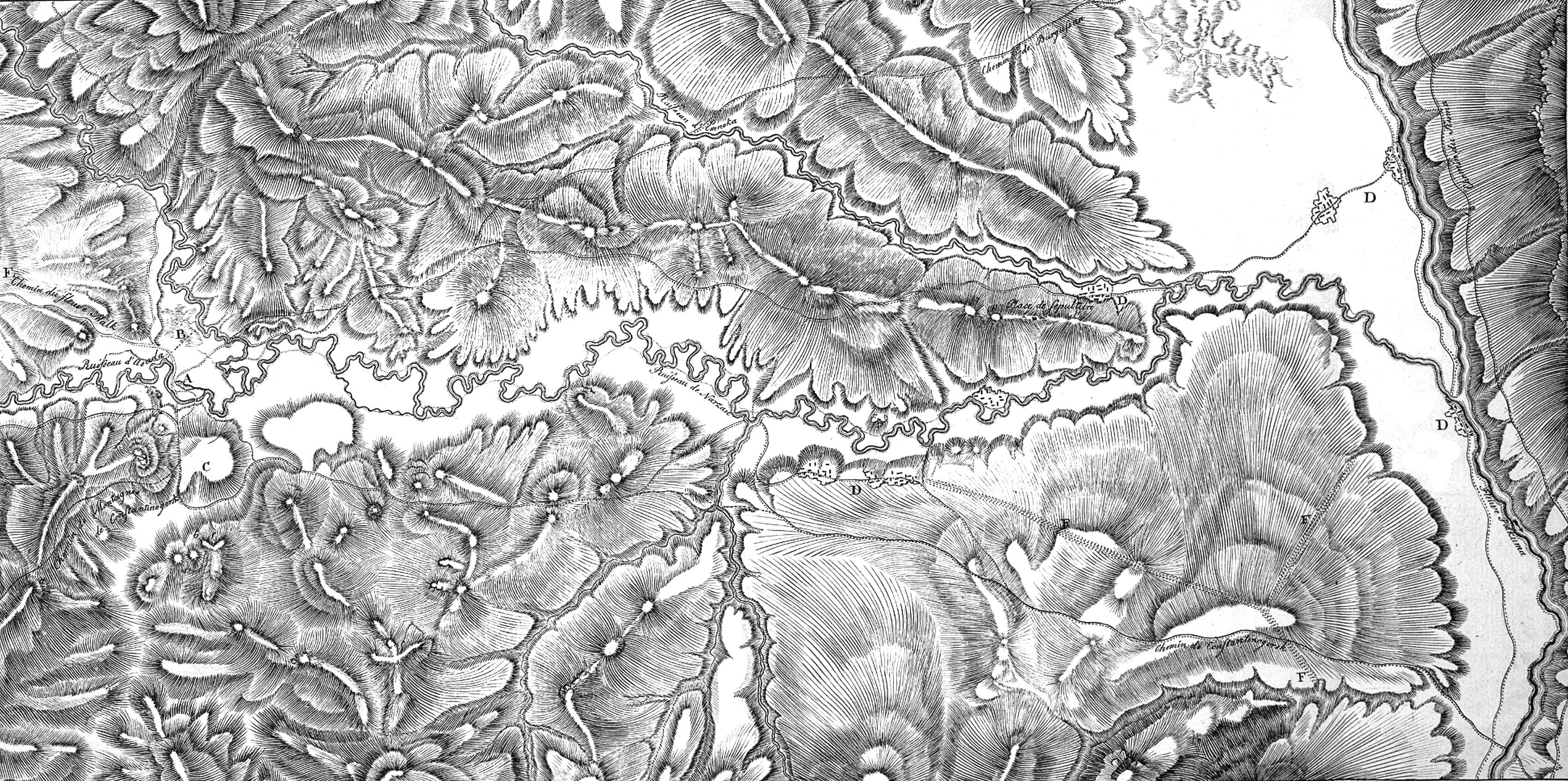 16. План и карта минеральных источников — будущий курорт Кисловодск, ведущий свою историю с 1803 года — года строительства крепости возле минерального источника «Нарзан».