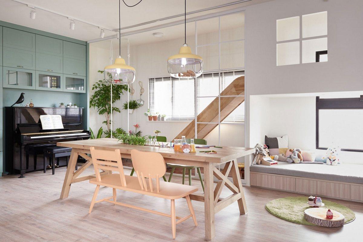 HAO Design, The Family Playground, яркий интерьер квартиры фото, игровая зона в квартире фото, необычные интерьеры квартир фото