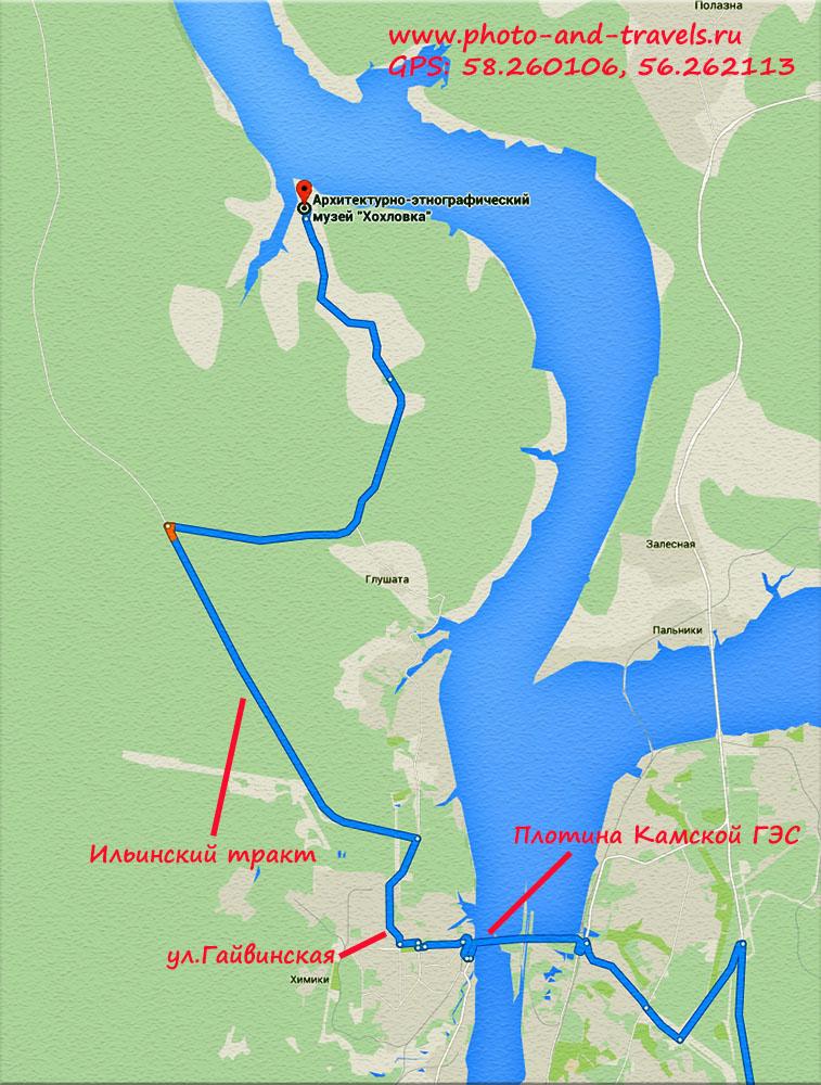 14. Как добраться в музей «Хохловка» на автомобиле или на автобусе . Карта со схемой маршрута.