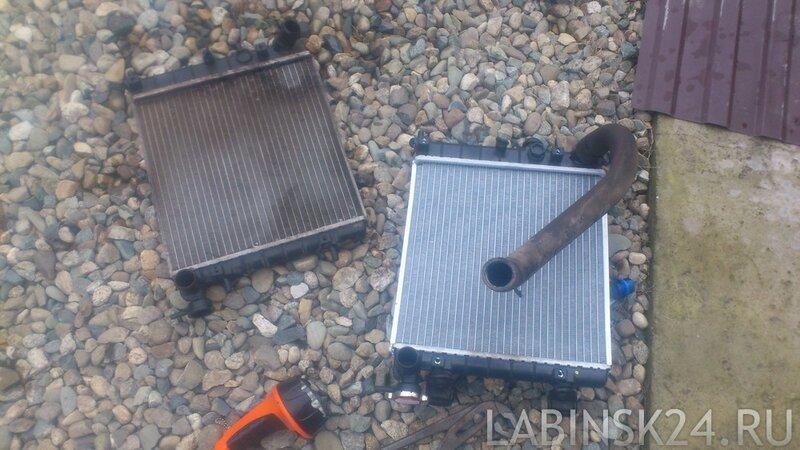 новый и старый радиатор