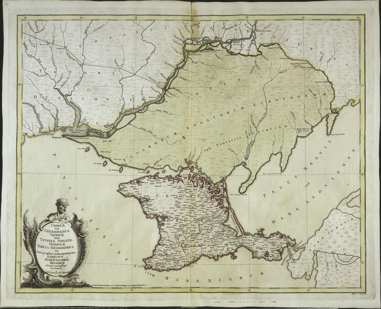 1750. Крым с Херсонесом Таврическим и ногайской Тартарией