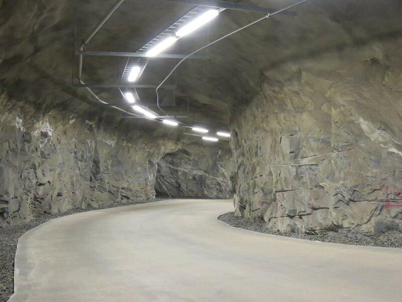 Поземный тоннель в хранилище РАО близ АЭС Олкилуото. Фото: Александр Колотов
