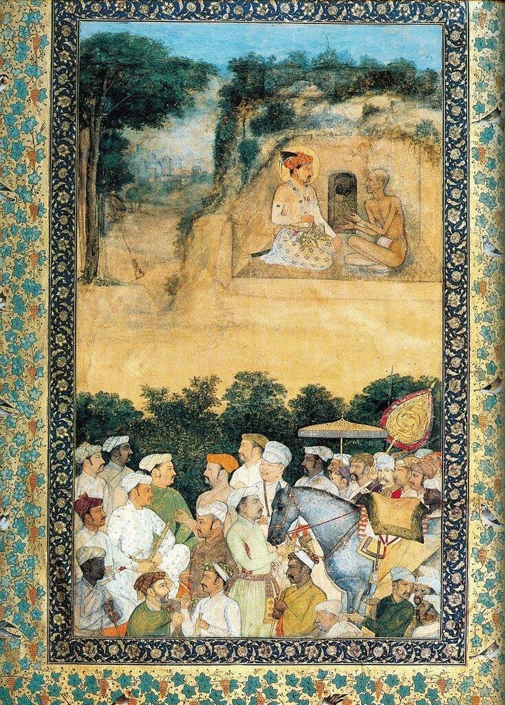 Говардхан. Джахангир посещает мудреца-отшельника Джадрупа. ок. 1616-20.jpg