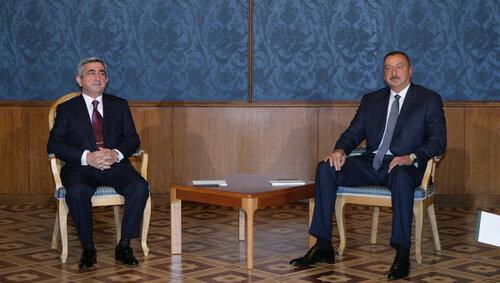 Первая встреча Алиева и Саргсяна после обострения в Карабахе