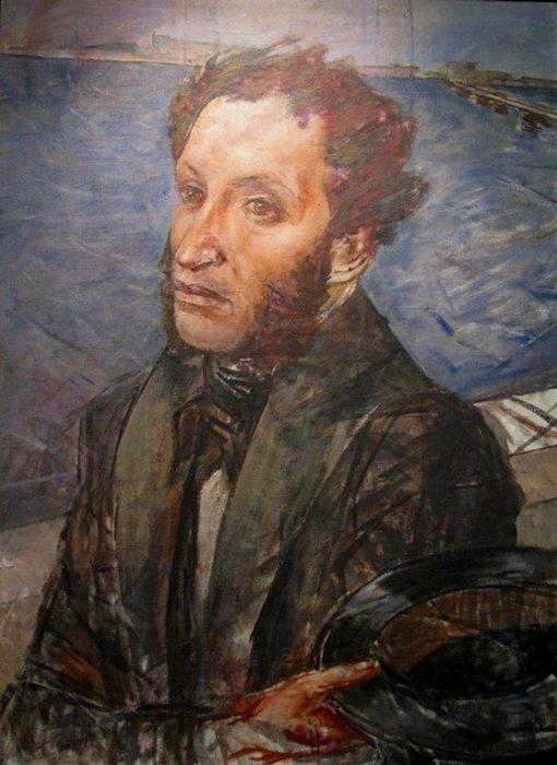 А.С. Пушкин. Кузьма Петров-Водкин. 1934 год