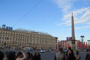 Достопримечательности Санкт-Петербурга: площадь Восстания, обелиск Городу-Герою Ленинграду