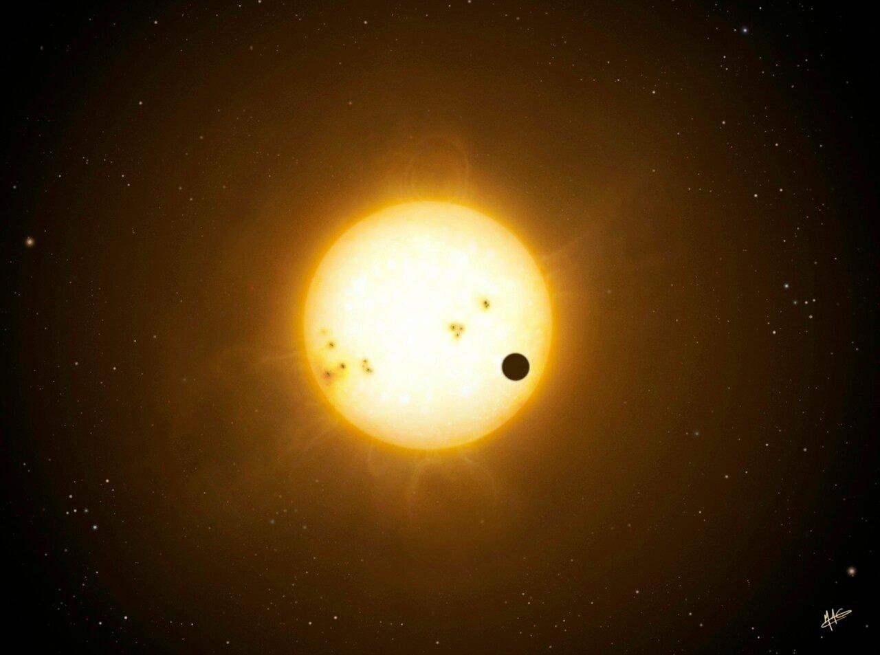 Астрономы обнаружили смещение горячей точки экзопланеты