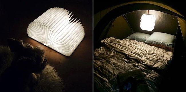 Беспроводная книга-светильник Lumio позволяет включать и выключать свет одним движением руки — откры