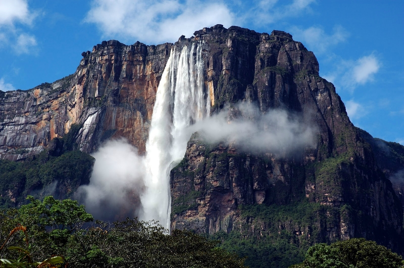 самые красивые водопады: Анхель