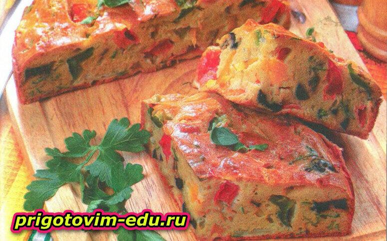 Овощной пирог с пармезаном
