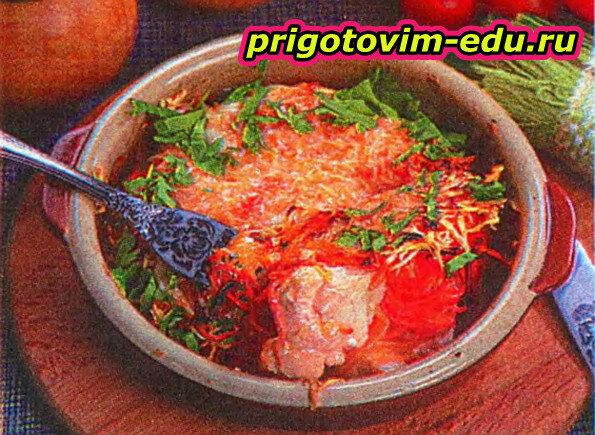 Куриная запеканка с морковью