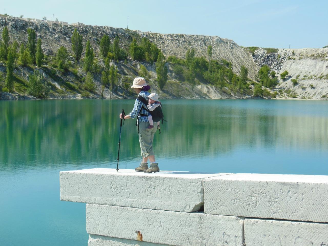 Крым Бакла озеро Скалистое карьер
