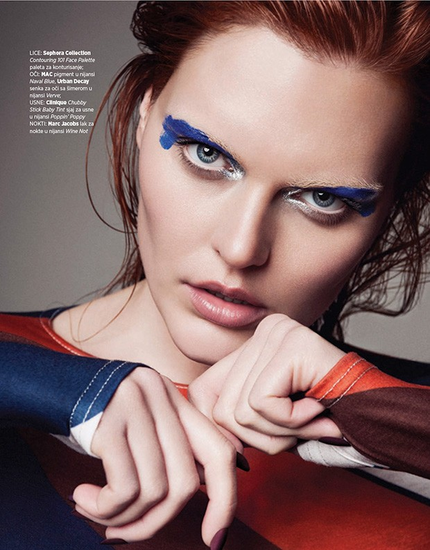Sina by Christoph Klutsch for Harpers Bazaar Serbia - Beauty Scene