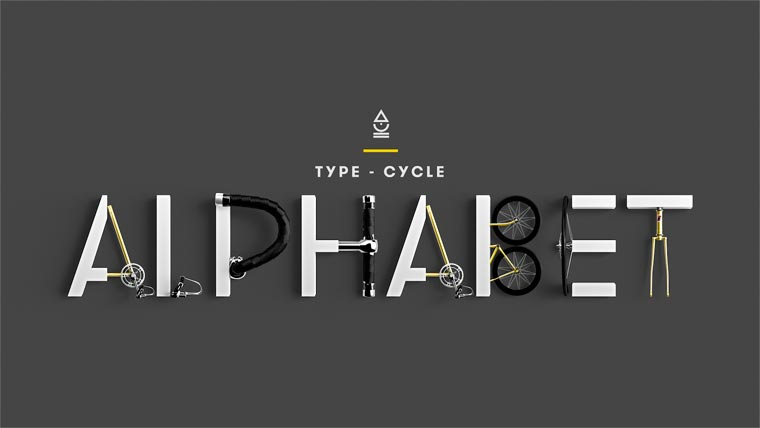 Type Cycle - This nice alphabet pays tribute to all the bike lovers