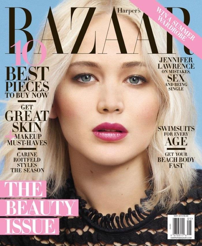 Дженнифер Лоуренс Harper's Bazaar US май 2016 фото 1