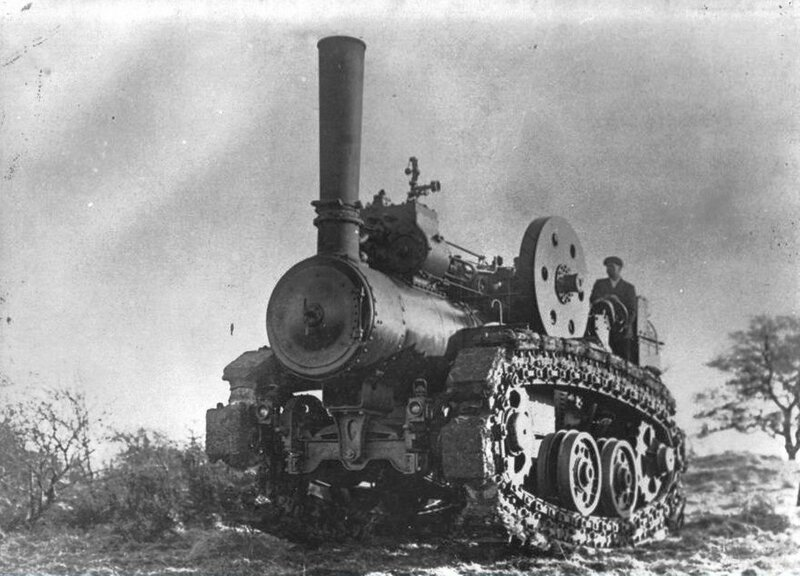 Паровой трактор Хорнсби, испытания в Англии, февраль март 1910 года.01.jpg
