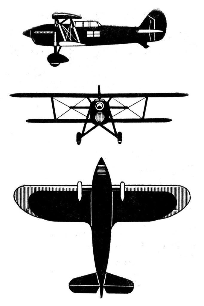 Силуэты итальянских самолетов (1939) 039