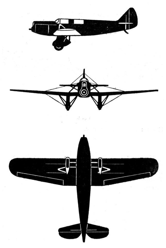 Силуэты итальянских самолетов (1939) 049