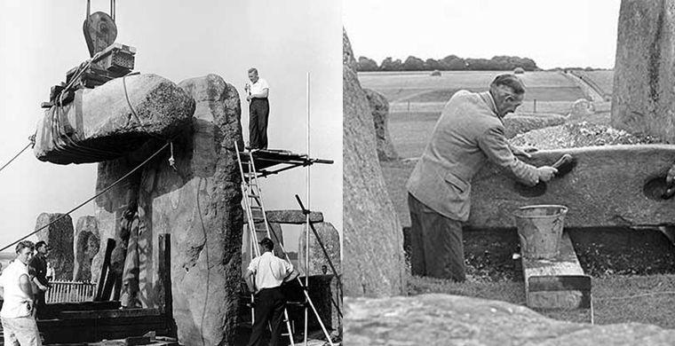 12. Археологи поднимали и по-своему расставляли упавшие камни, так что постройкой друидов современны