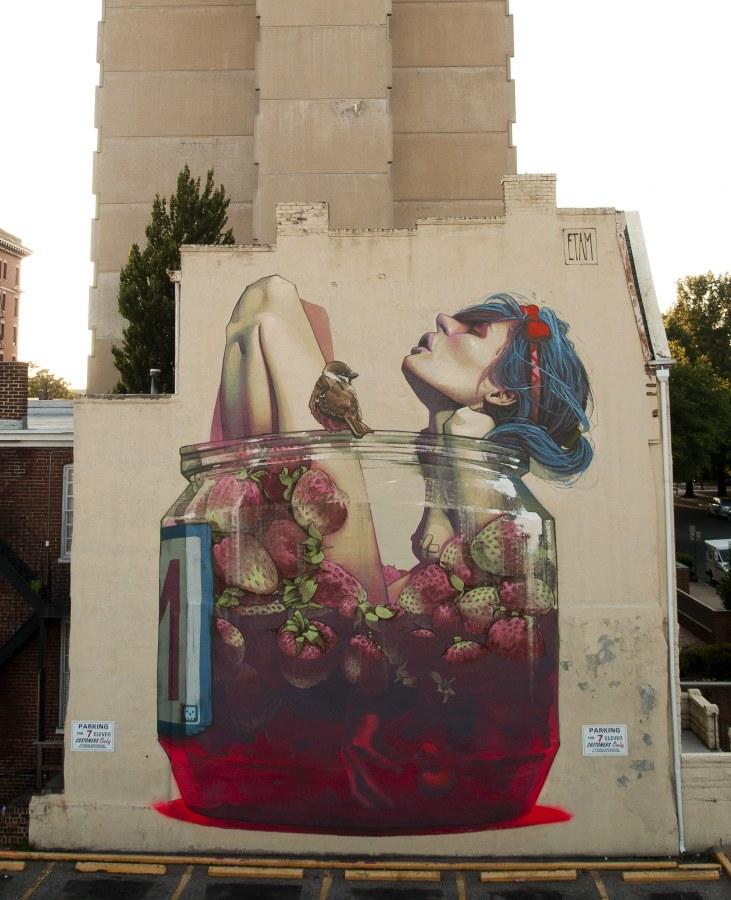 Дуэт Etam Cru рисует огромные граффити по всему миру: Польша, Болгария, Чехия, Россия, США, Германия